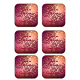 MeSleep Abstract Rakhi Wooden Coaster-Set Of 6 - B013LENCEW