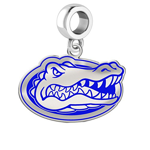 Florida Gators Silver Logo and School Color Charm Fits All European Style Charm Bracelets