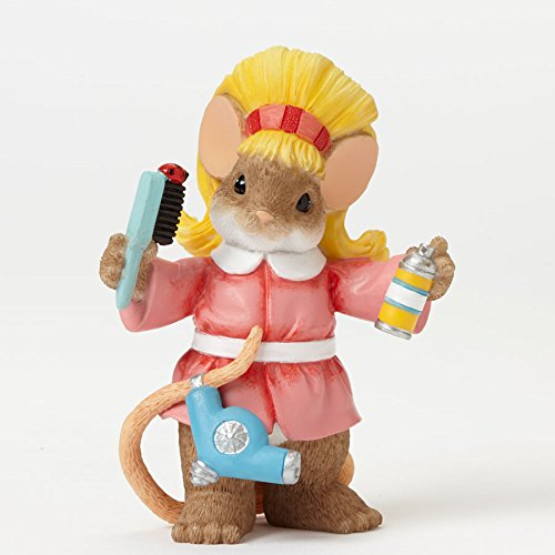 Charming Tails You Always Do It Up Right Hair Stylist Mouse Figurine front-898811