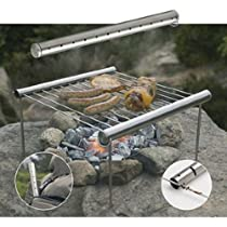 Grilliput Portable Survival Back Country Camping Grill or Stove for Hiking, Fishing and Camping. This Stainless Steel Durable Cooker Backpacks Well to Any Hideout, Fishing Shore Lunch Spot, or Hill Country. A Must Have for the Prepper or Survivalist and Makes a Great Gift for Family and Friends.