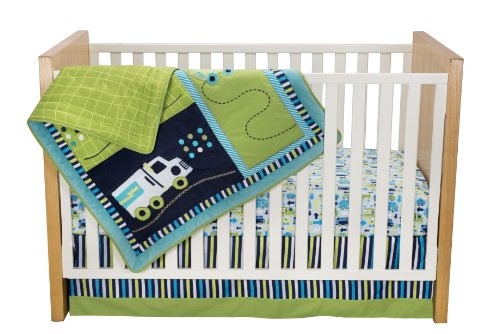 Zutano Crib Set, Traffic, 4 Piece (Discontinued by Manufacturer)