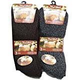 6pairs Mens Non Elastic Outdoor Cushion Sole Diabetic Wool Blend Thermal Socks UK Shoe Size 6-11