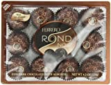 Ferrero Rondnoir Dark Chocolates w/ Almonds, 12 Piece
