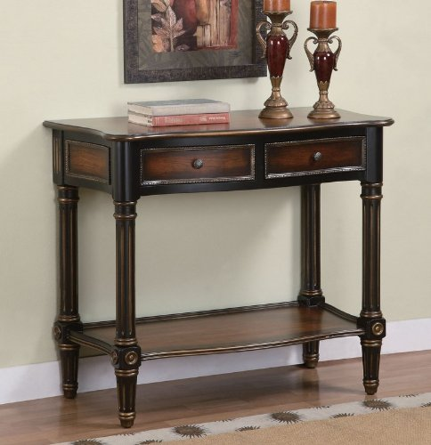 Cheap Entryway Console Sofa Table with Fluted Legs in Antique Black and Cherry Finish (AZ00-46958×20326)