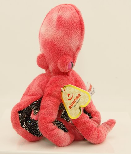 "Pink Octopus Plush Stuffed Animal - Sucker - 10"" Tall By Aurora - 1"