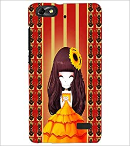 PrintDhaba Cute Girl D-2683 Back Case Cover for HUAWEI HONOR 4C (Multi-Coloured)