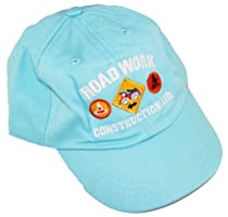 Sweet & Soft Toddler Boys Road Work Construction Kid Adjustable Hat 12-24 M blue