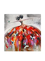Arte Dal Mondo Cuadro Donna Con Farfalle