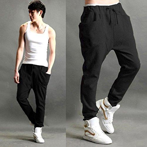 Wexinbuy Mens Jogger Dance Sportwear Baggy Harem Slacks Sweatpants