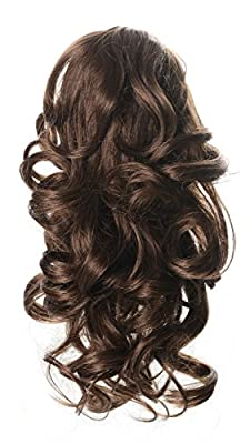 """OneDor 12"""" Curly Synthetic Clip In Claw Ponytail Hair Extension Synthetic Hairpiece 115g with a jaw/claw clip"""