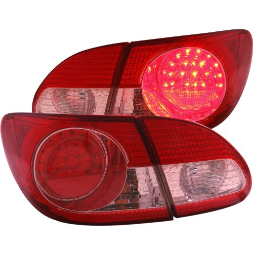 Anzo Usa 321190 Toyota Corolla 4 Pcs Red/Clear Led Tail Light Assembly - (Sold In Pairs)