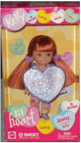 Valentines Kelly Barbie Doll Lil' Heart Redhead Jenny Sweet by Mattel