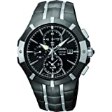 Seiko Men's Coutura, Black & Sainless Steel, Solar Power SSC199P9
