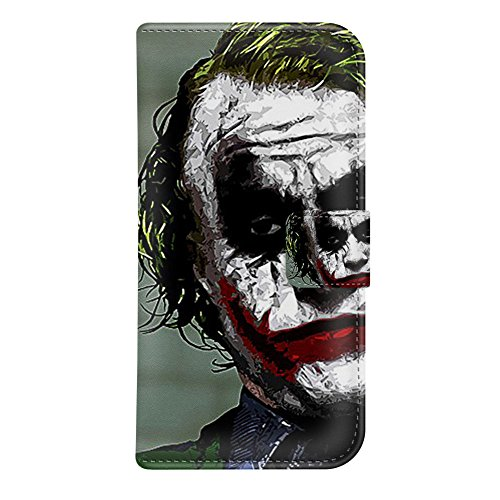 """iPhone 6 Plus Wallet Case - Onelee DC comics Joker Batman Dark Knight Premium PU Leather Case Wallet Flip Stand 5.5"""" Case Cover for iPhone 6 Plus with Card Slots at Gotham City Store"""