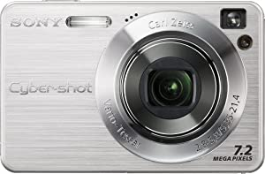 Sony Cybershot DSCW120 7.2MP Digital Camera with 4x Optical Zoom with Super Steady Shot (Silver)