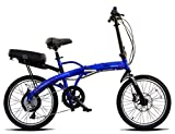 ProdecoTech v4.0 Mariner 500 48V 500W 9 Speed 9Ah Li Ion Electric Bicycle, Electric Blue Metallic, 20-Inch/One Size