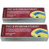 2er-Pack PVC und PU Reparatur Set, Flickzeug für Schlauchboot Zelt Pool Gewebe Planen Vinyl PVC PU (Polyurethan)