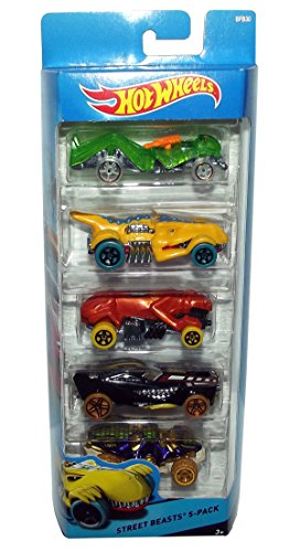 Hot Wheels City Street Beasts 5-Pack BFB30
