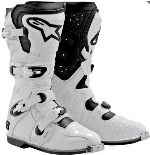 Alpinestars Tech 8 Light Men's MX/Off-Road/Dirt Bike Motorcycle Boots - White / Size 9