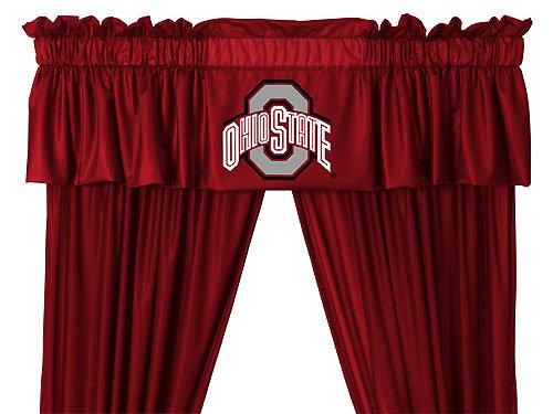 NCAA Ohio State University Buckeyes - 5pc Jersey Drapes Curtains and Valance Set