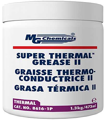 MG Chemicals 8616-1P Cream Super Thermal Grease II, Silicone Free and Non Bleeding, 1 pint, Tube