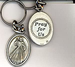 Divine Mercy Key Chain - Metal
