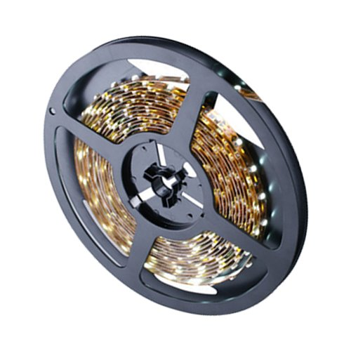 Ggl Waterproof Superbright 3528 Smd 300-Led Yellow Flexible Pcb Led Strip Light Flash Lamp Ribbon With Self-Adhesive Tape Backing 16.4Ft 5M Per Reel - Ideal For Various Residential Industrial Commercial Decorative Lighting Applications