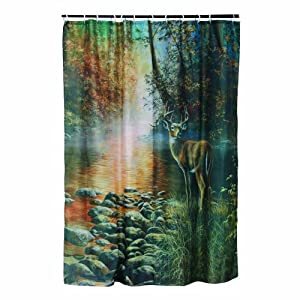 Rivers Edge Products Deer Shower Curtain : Amazon.com : Sports ...
