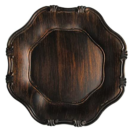 Wood Grain Baroque charger plates