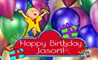 Caillou Birthday Party 1/4 Sheet Edible Photo Birthday Cake Topper. ~ Personalized!