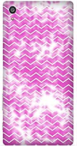 Pink Geometric Print by Angana Printed Back Cover Case For Sony Xperia Z5 Premium