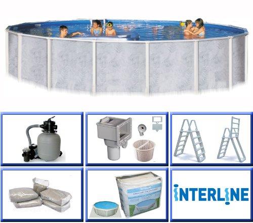 Interline 55000050 rund pool diana durchmesser 3 60 m for Stahlwandbecken 2 m durchmesser