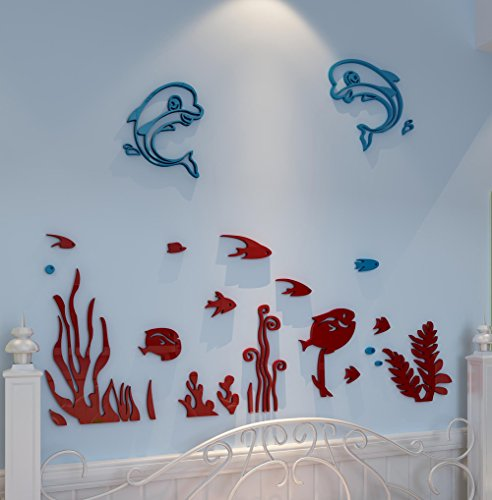 Wall Decor Family Dollar : Decorsmart plastic d the undersea world wall decal for