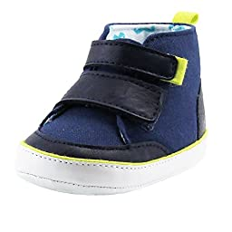 Rosie Pope Love For Prewalker Baby Boy Hi-Top Sneakers Music 9-12 Mths (Infant Crib Shoes Baby Shoes Boy) Navy Blue
