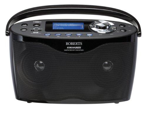 Robert Stream 205 Stereo DAB/FM/WiFi Internet Radio - Black Black Friday & Cyber Monday 2014