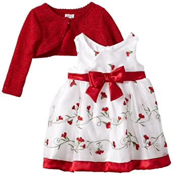 Amazon.com: Youngland Baby Girls' Schifflie Dress, Red