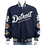 Detroit Tigers Wool Reversible Jacket (Large) by NYC Leather Factory Outlet