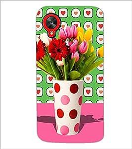 PrintDhaba Flower Vass D-2795 Back Case Cover for LG GOOGLE NEXUS 5 (Multi-Coloured)