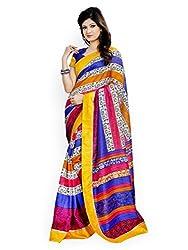 Monash Creations Multi Bhagalpuri Silk Saree