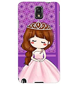 ColourCraft Cute Princess Back Case Cover for SAMSUNG GALAXY NOTE 3