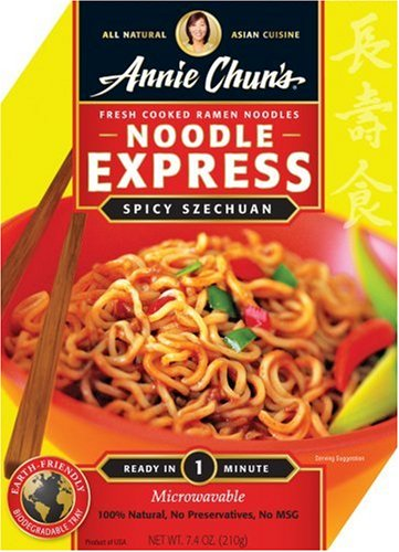 Annie Chun's Spicy Szechuan Noodle Express, 7.4-Ounce Bowls (Pack of 6)