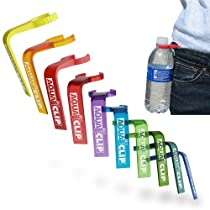 Aqua Clip Water Bottle Clip (10 PACK) - Water Bottle Holder Accessory for Hiking, Bird Watching, Gym, Sightseeing, and Winter Sports - Clip-On Carrier for Water Sports, Golf Bags, Backpacks, Waistbands, Purses, Belts, Trail Sports, Fishing, and More