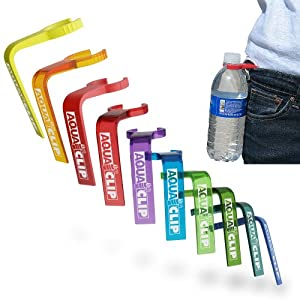 Aqua Clip Water Bottle Clip (10 PACK) - Water Bottle Holder Accessory for Hiking,... by Aqua Clip