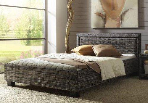 Stilbetten Bett Rattanbett Tanas 020 Classic schlamm 180×200 cm günstig