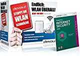 devolo dLAN 500 WiFi Starter Kit + Kaspersky Internet Security 2016 (500 Mbit/s, Powerline, 2 Adapter im Set, 1x LAN, WiFi Move)