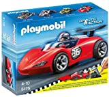 PLAYMOBIL Sports and Action - Sports Racer - 5175 -Kids will love discovering the world of race cars with this Sports Racer from PLAYMOBIL.Get ready for action, the race is about to begin. This car can zoom up to 10 metres! Contains launch ramp (5175)