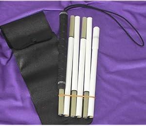 盲人用安全杖(つえ) グラスファイバー 6段折りたたみ ゴルフグリップ 標準タイプ120cm:身長170cm未満