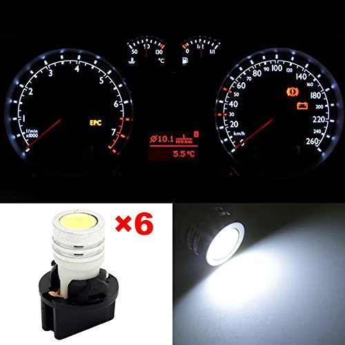 Partsam 6X High Power Pc194 1-Epistar Led Instrument Cluster Lamp Light White Replace