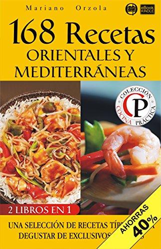 Portada del libro 168 recetas orientales y mediterráneas de Mariano Orzola