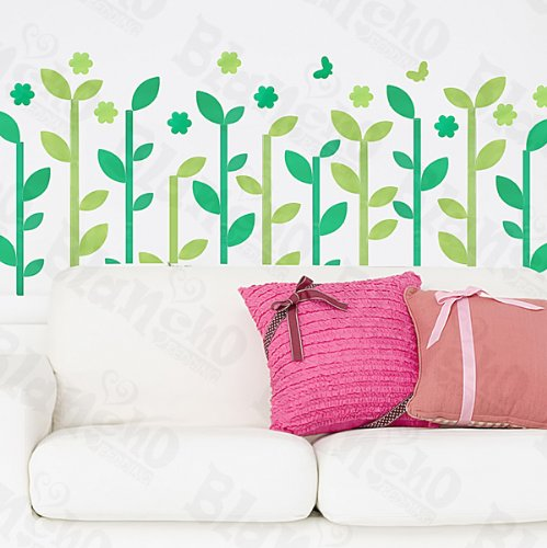 Little Green Tree Decorative Wall Stickers Appliques Decals Wall